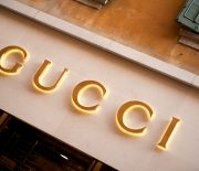 """Verona, Italy - June 15, 2012:  Gucci store sign located in Via Mazzini, the Veronese shopping street par excellence, with shops and boutiques of the most prestigious Italian and international fashion brands."""